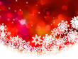 Red Christmas background in elegant style. EPS 8