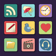 Vector set of apps icons in bright colors