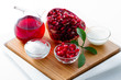 Organic cosmetics - pomegranate, alternative medicine