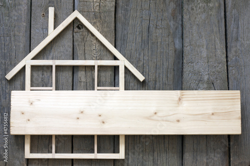 Wooden home construction renovation abstract background