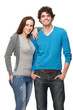Boyfriend and Girlfriend Smiling Isolated on White Background