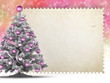 Template - christmas tree and blank paper sheet