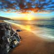 Crépuscule sur les plages de l'ouest, La Réunion.