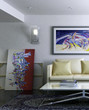 Modern Room with Artwork III (focused)