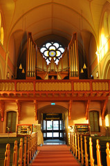 organ in the church, Sweden