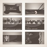 set of 6 business cards. For cafe and restaurant_III