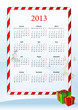 Vector illustration of European calendar 2013