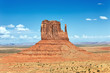 horizontal view of Monument Valley
