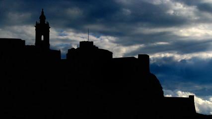 Malta Gozo Citadel clouds