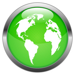 Vector Button Globe