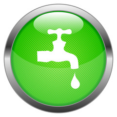 Vector Button Water Tap