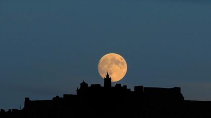 Malta Gozo Citadel moonrise
