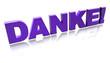 3D Schriften - Danke II