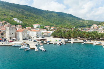 Komiza, a city on the island Vis in Croatia in the Adriatic sea