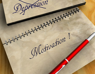 3D Notizblock - Depression - Motivation