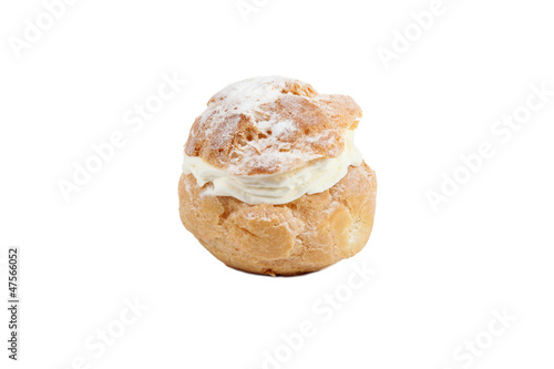 Cream filled choux pastry