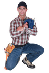 A handyman with a jigsaw.