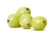 White Grapes Isolated with clipping path