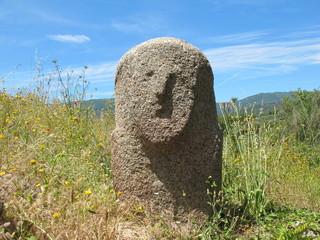 Menhir Statue, Filitosa, Korsika, Frankreich