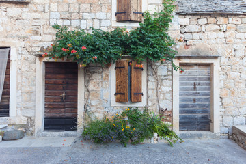 Exterior of a Beautiful Stone Cottage