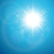 Sun with lens flare, vector