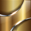 Abstract background gold glossy metallic