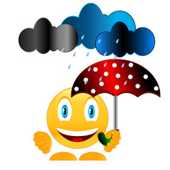Smile with umbrella
