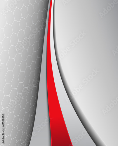 Business background, elegant grey with red