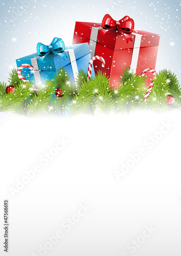 Christmas background with place for text