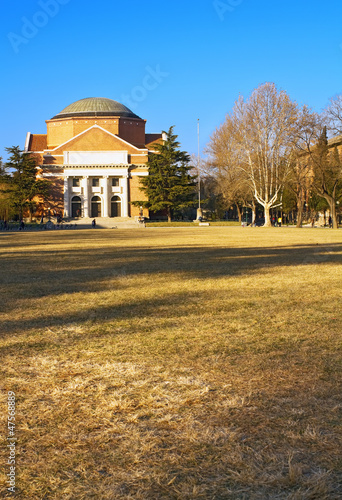Landscape of Tsinghua University Campus in winter, China