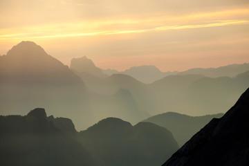 Dawn in Dolomites