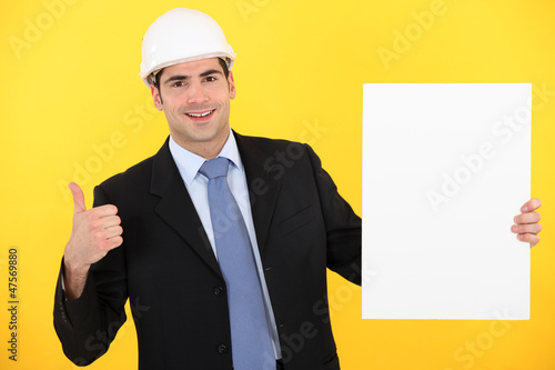 Architect giving thumbs-up