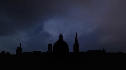 Malta Valletta skyline thunderstorm