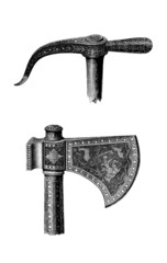 Arabian Weapons - Middle-Ages : Axe - Hache