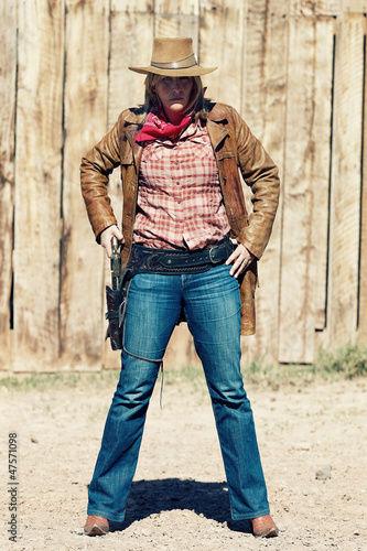 Portrait of bad cowgirl