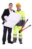 Businessman and foreman