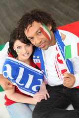 couple of italian soccer supporters