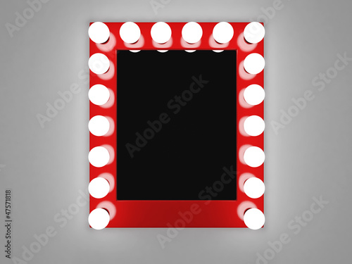 Mirror with bulbs for makeup