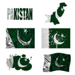 Pakistan flag collage