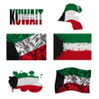 Kuwait flag collage