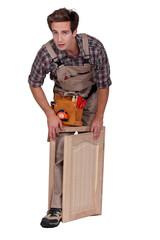 carpenter making a window