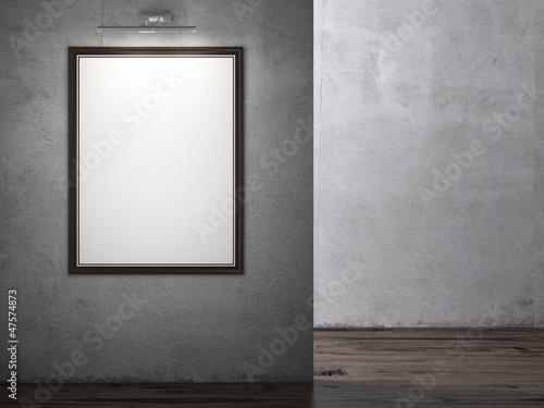 Foto op Plexiglas Wand Interior with empty wooden frame