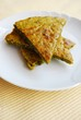 Vegetarian chickpeas cake with herbs