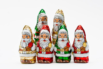 christmas gift wrapped chocolate Santa Claus