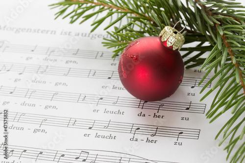 Leinwanddruck Bild Weihnachtslieder singen