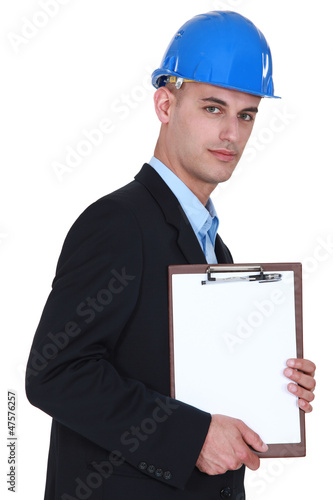 Architect with a clipboard