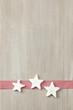 Weisse Stern auf Holz