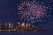 New York, Manhattan, Feuerwerk, Silvester