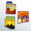 United States Arizona New Mexico Utah sticker designs
