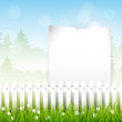 Spring vector background with and place for text